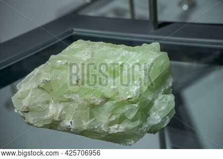 Vivid Green Fluorite Ore Extracted, From Lampang Thailand.