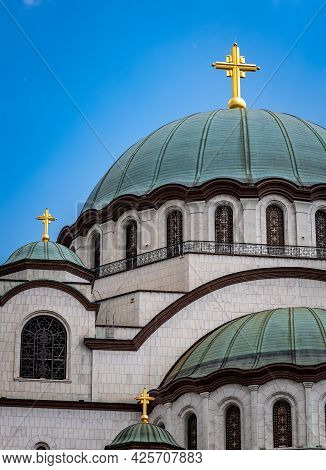 Saint Sava Church, One Of The Biggest Orthodox Christian Churches In The World In Belgrade, Capital