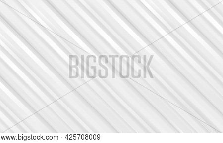 Abstract White Striped Light Presentation Background With White And Soft Gray Three Dimensional Diag