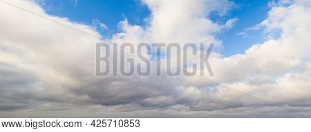Blue Sky With Clouds Gentle Glowing Haze - Divine Heavenly Landscape