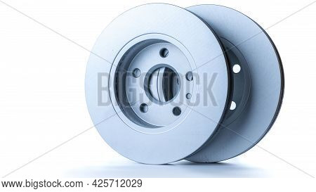 Mechanic Part. New Metal Car Part. Auto Motor Mechanic Spare Or Automotive Piece Isolated On White B