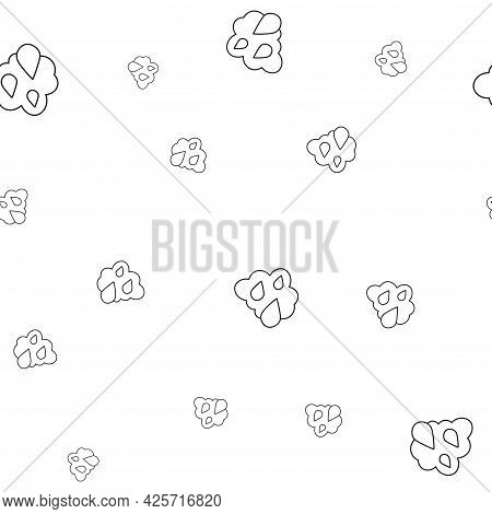 Seamless Pattern Of Ecological Icons Raindrops. Isolated On White Background. Vector Illustration.