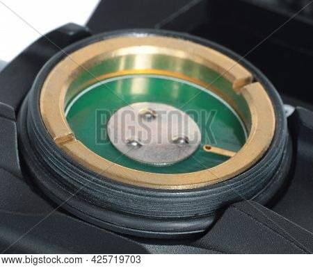 Battery Compartment On A Red Dot Style Sight Used On An Ar-15