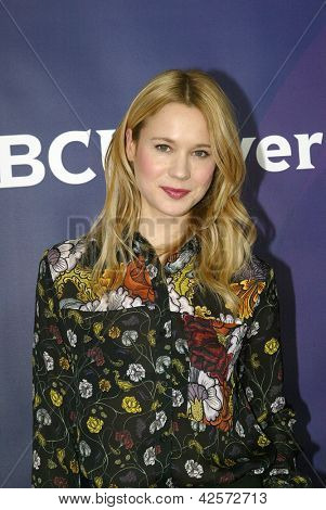 PASADENA, CA - JAN. 7: Kristen Hager arrives at the NBCUniversal 2013 Winter Press Tour at Langham Huntington Hotel & Spa on January 7, 2013 in Pasadena, California