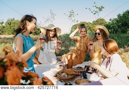 Covid Safe Summer Picnic. Summer Party Ideas. Safe And Festive Ways To Host Small, Outdoor Gathering