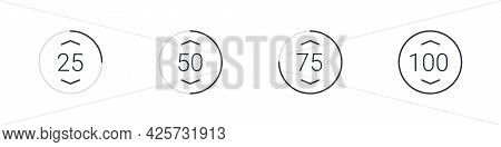 Loading Icon. Loading Bar. Loading Icon Concept. Collection Of Simple Web Download. Vector Illustrat
