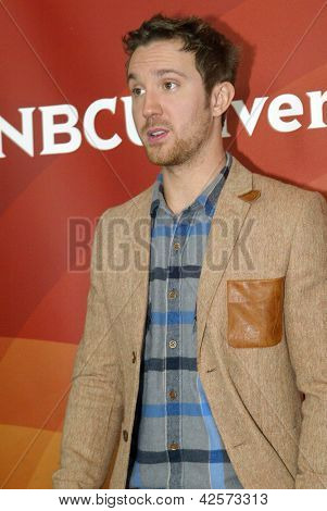 PASADENA, CA - JAN. 7: Sam Huntington arrives at the NBCUniversal 2013 Winter Press Tour at Langham Huntington Hotel & Spa on January 7, 2013 in Pasadena, California