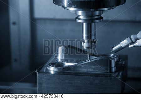 The  Cnc  Milling Machine Cutting  The Mold Parts By Solid Ball  End-mill Tool Type. The Hi-precisio