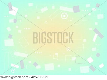 Abstract Hi-tech Background. Virtual Reality High Technology Innovation. Circuit Board. Futuristic S