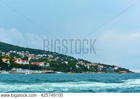 A Boat Trip On The Bosphorus, A View Of The Waves From The Boat.
