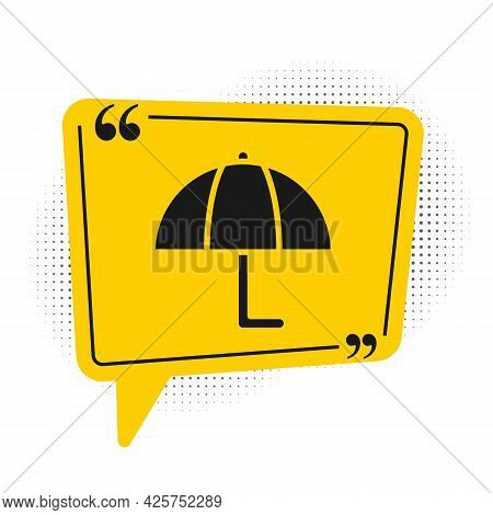 Black Umbrella Icon Isolated On White Background. Insurance Concept. Waterproof Icon. Protection, Sa