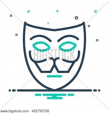 Mix Icon For Mask Facade Theater Drama Face