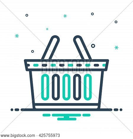Mix Icon For Buy Purchase Basket Buying-cart Shopping