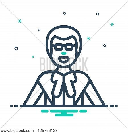Mix Icon For Lawyer Jurist Justiciary Man Corporate Consultation