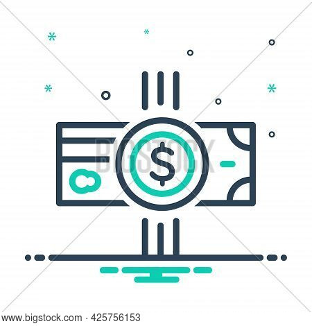 Mix Icon For Payment Salary Pay Wage Emolument Money