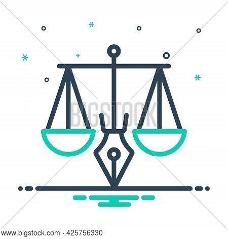 Mix Icon For Legitimacy Legality Justice Balance Judgment Punishment