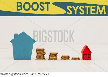 Text Caption Presenting Boost System. Concept Meaning Rejuvenate Upgrade Strengthen Be Healthier Hol