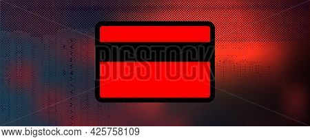 Digital Security Vector Icon. Credit Card Password Theft Concept