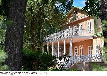 View Of The Manor House In The Estate Of Tarkhany Grandmother Of The Poet Lermontov Russia On A Summ