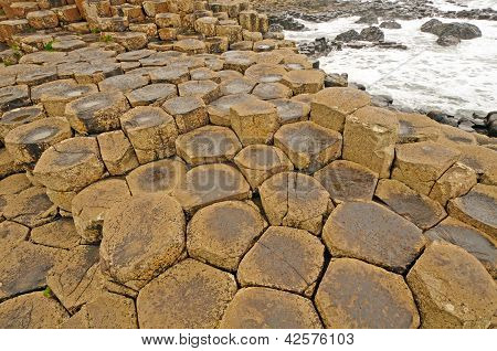 Volcanic Rock Formation Near The Ocean