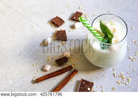 Lassi Is A Popular Traditional Dahi, Yogurt-based Cold Drink In India. Lassi Is Made From Yogurt, Wa