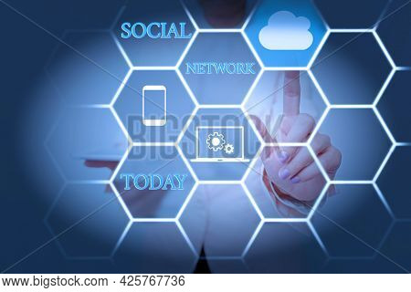 Inspiration Showing Sign Social Network. Conceptual Photo A Framework Of Individual Linked By Intera