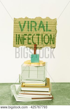 Handwriting Text Viral Infection. Conceptual Photo Specific Attack Of The Cells From The Reproductio