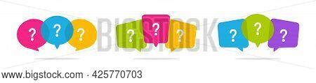 Speech Bubble With Question Icon. Chat Message Bubble Box. Thinking, Question, Answer, Idea Concept.