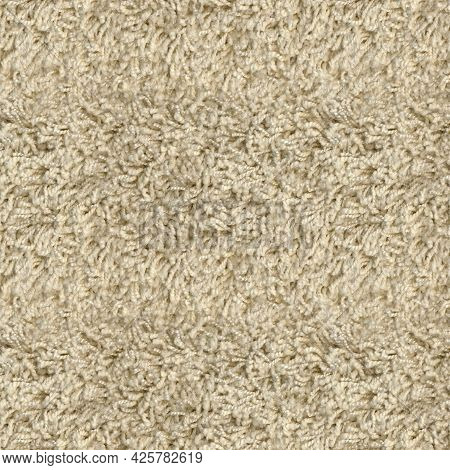 Seamless Beige Carpet Rug Texture Background From Above, Carpet Material Pattern Texture Flooring