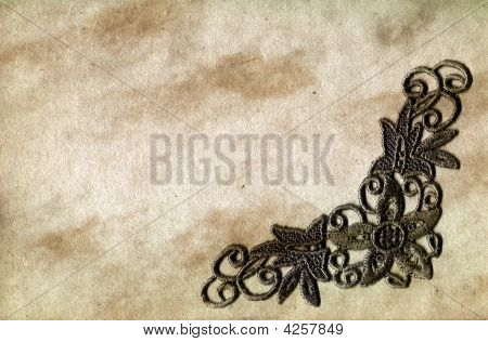 Grunge Paper With Lace