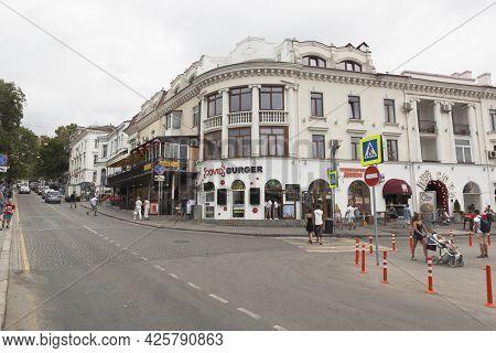 Sevastopol, Crimea, Russia - July 28, 2020: Fast Food Restaurant