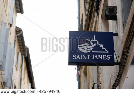 Montpellier , Ocitanie France  - 06 30 2021 : Saint James Sign Text Store And Brand Logo Of Marine B