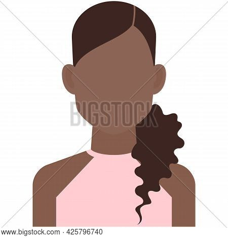 Hispanic Young Woman Avatar Icon Vector Isolated