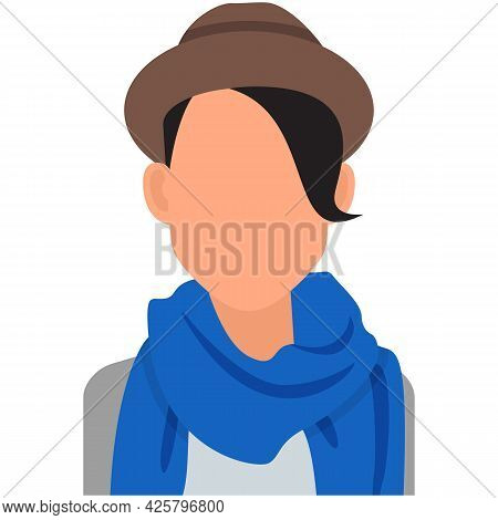Woman Default Avatar Icon Vector Isolated On White