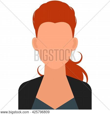 Woman Default Business Avatar Icon Vector Isolated