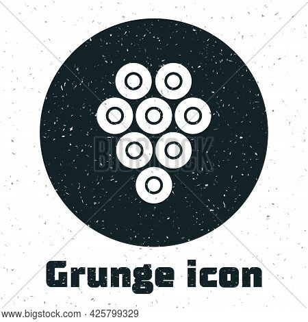 Grunge Caviar Icon Isolated On White Background. Monochrome Vintage Drawing. Vector.