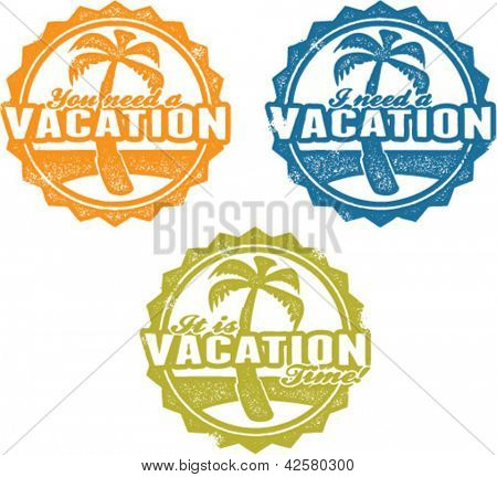 Travel Agency Vacation Time Stamps