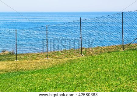 Access Is Prohibited To The Sea Fence.