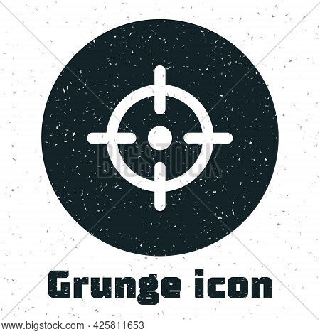 Grunge Target Sport Icon Isolated On White Background. Clean Target With Numbers For Shooting Range