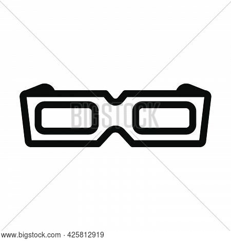 3d Goggle Icon. Bold Outline Design With Editable Stroke Width. Vector Illustration.