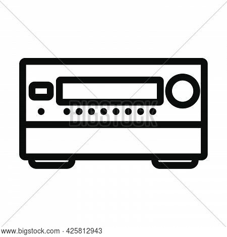 Home Theater Receiver Icon. Bold Outline Design With Editable Stroke Width. Vector Illustration.
