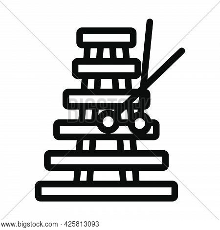 Xylophone Icon. Bold Outline Design With Editable Stroke Width. Vector Illustration.