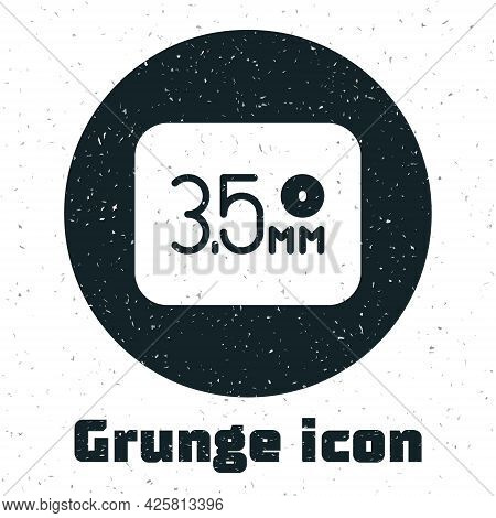 Grunge Audio Jack Icon Isolated On White Background. Audio Cable For Connection Sound Equipment. Plu