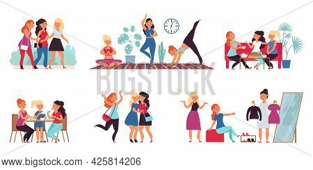 Female Friends Together. Smiling Young Friend, Adult Friendship. Happy Sisters, Women Teamwork Commu