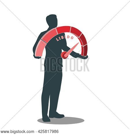 Man Holding Libido Level Measuring Device Scale