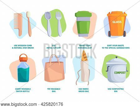Zero Waste Tips. Eco Friendly Lifestyle Plastic Diapers Recycle Pollution Sustainable Environment Ga