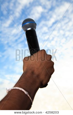Holding A Mic To The Sky