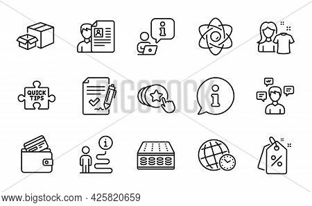 Line Icons Set. Included Icon As Packing Boxes, Time Zone, Hold Heart Signs. Clean Shirt, Mattress,