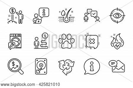 Business Icons Set. Included Icon As Currency Audit, Hdd, Income Money Signs. Serum Oil, Eye Target,