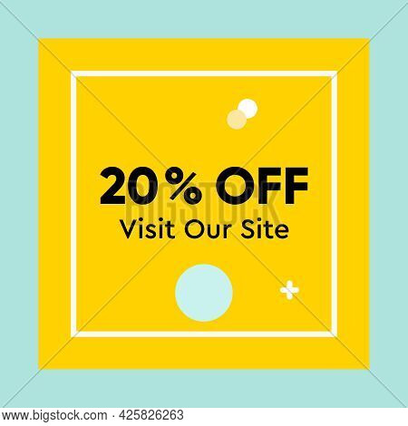 Special Offer, Discount Up To 20 Percent Off. Modern Design Vector Illustration Concept For Website